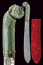 A letter opener with jade handle, dating: 20th Cen