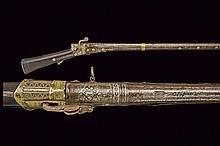 A match lock gun with turkish barrel, dating: Mid