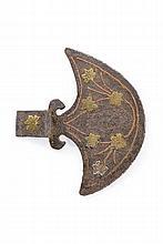 A decorated axe head, dating: circa 1800, provenan
