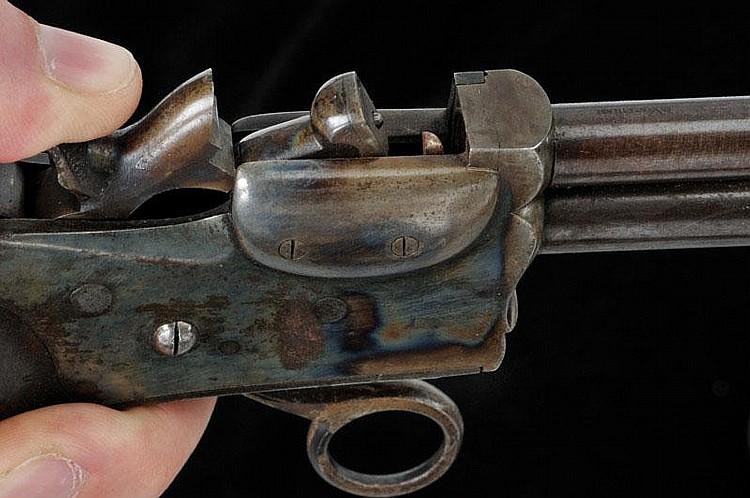 A rare breech-loading pistol by Marius Berger