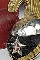 A cavalry officer's helmet