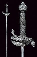 A chiselled hilt sword