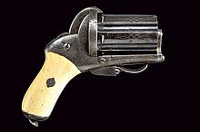 A very rare pin-fire pepperbox revolver by Chamelot-Delvigne