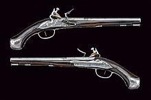 A pair of officers flintlock pistols by Manani
