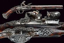 An important flintlock pistol