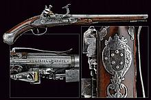 A snaphaunce flintlock pistol from the property of the House of Medici