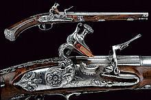 A beautiful flintlock pistol by Ponsino Valetto Borgognone