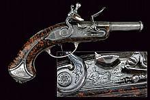 A beautiful and rare flintlock traveling pistol by Lorenzoni