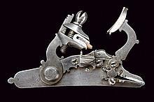 A snaphaunce flintlock