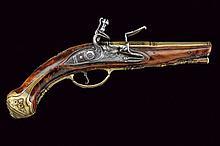 A beautiful pistol-shaped flintlock lighter