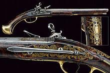 A Roman type flintlock pistol