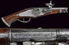 A rare wheel-lock pistol in small traveling size
