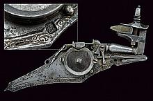 A engraved and gilt wheel-lock