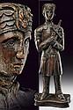 A sculpture depicting a warrior