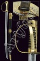 An officers sabre with turning hilt