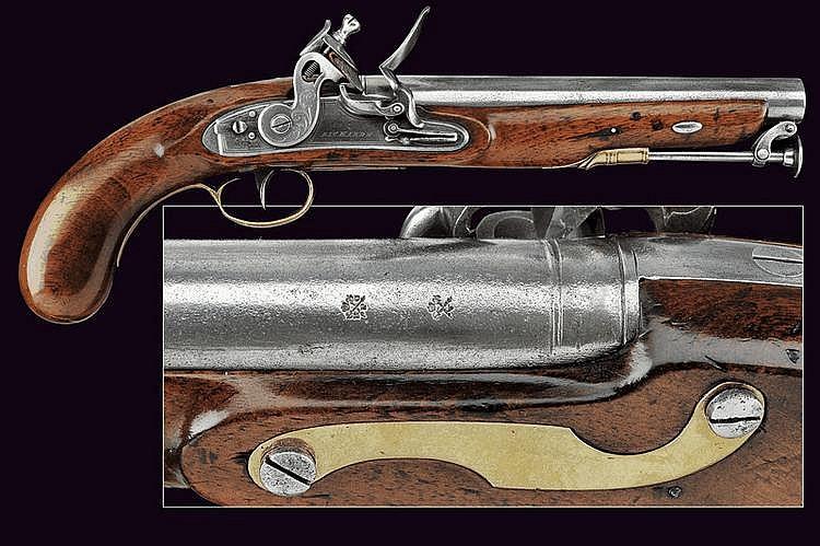A flintlock pistol by Richards