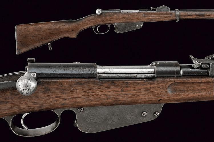 A 1886 model Mannlicher rifle