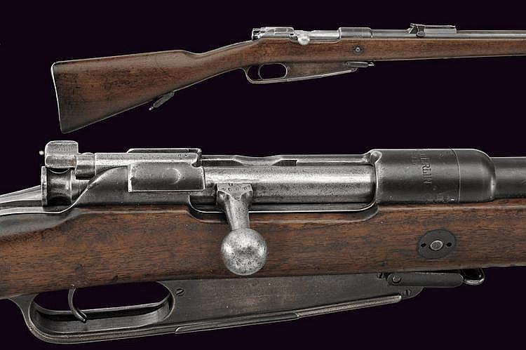 A 1888 model breech-loading rifle