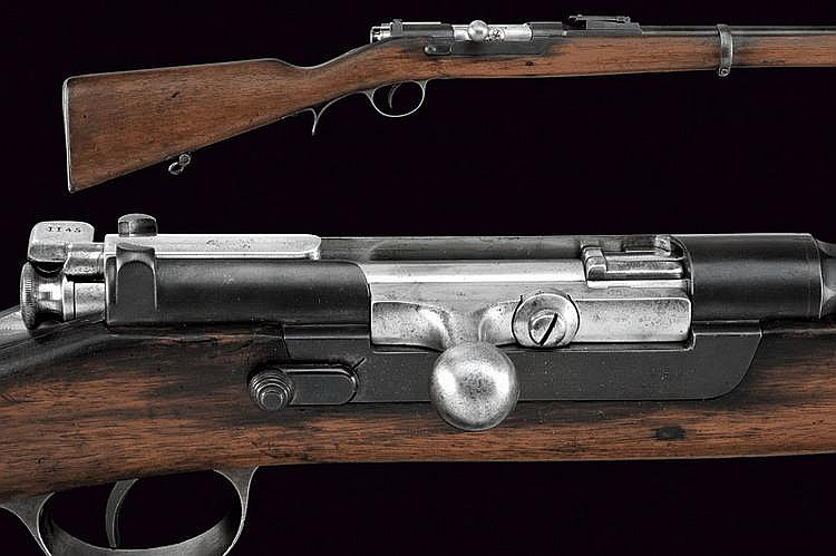 A 1886 Steyr model breech-loading rifle