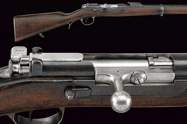 A 1886 Steyr model breech-loading rifle