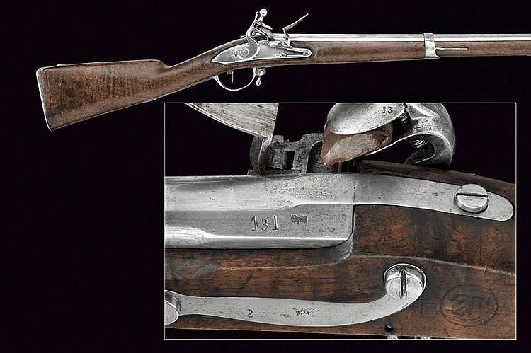 A military flintlock gun
