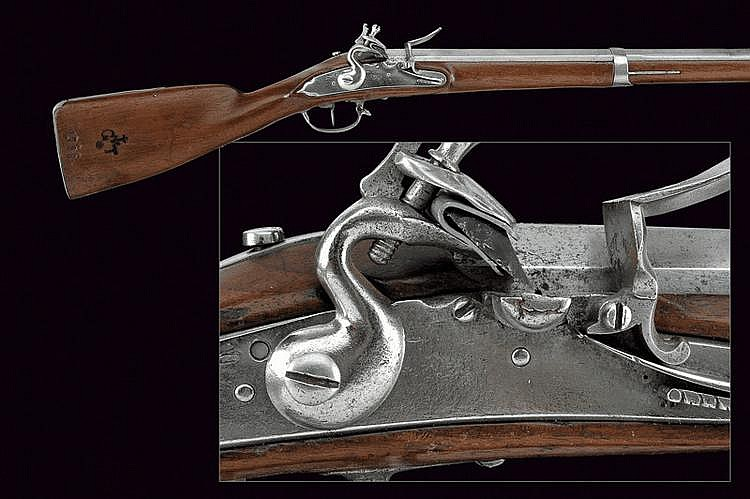A military flintlock gun