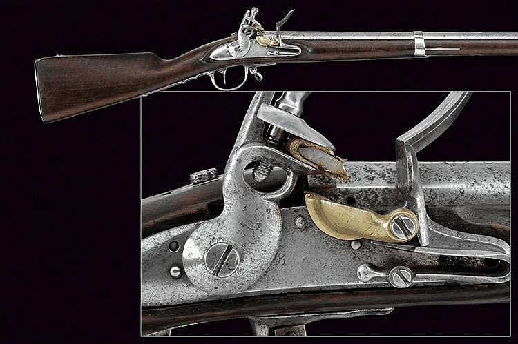 A 1777 model military flintlock gun