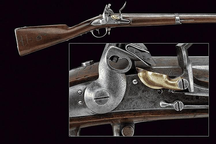 A 1822 model military flintlock gun