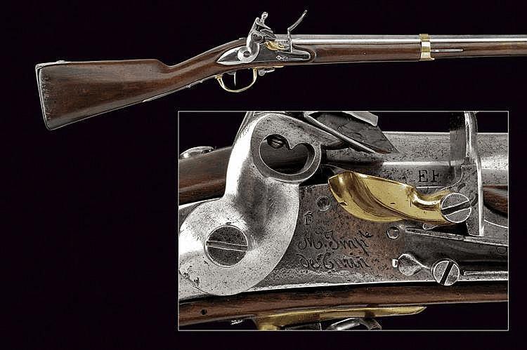 An AN IX military flintlock gun