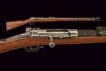 A Mauser Model 71/84 bolt action rifle