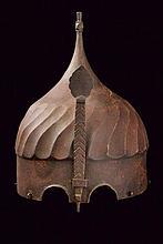 A rare ceremonial helmet