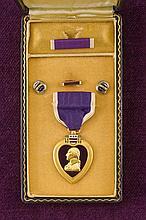 A cased Purple Heart