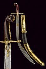 A fine pala with damask blade
