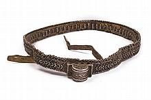 A silver belt