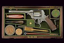 A cased Tranter percussion revolver