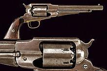 An 1858 model Remington percussion revolver