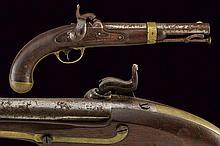 An Aston & Co. percussion pistol