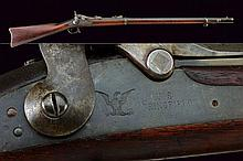 An 1873 model Springfield rifle