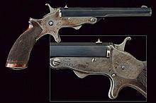 A single shot Tranter breech loading rim fire pistol