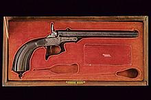 A cased breech loading target pistol by Arendt