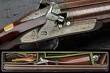 A fine double barreled shotgun by Joseph Manton