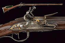 A fine flintlock gun by Juan Fernandez e Le Page of nobile property