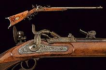 A rare breechloading target rifle by G. Manzoni of nobile property