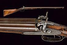 A fine double barrelled shotgun by Mortimer