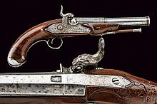 A percussion pistol