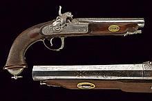 A fine percussion pistol by Bascaran