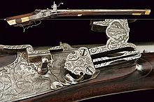 A wheel lock gun