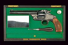 A cased S&W; New Model No. 3 Single Action Revolver