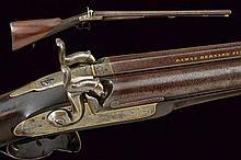 A double-barrelled percussion shotgun by Bernard