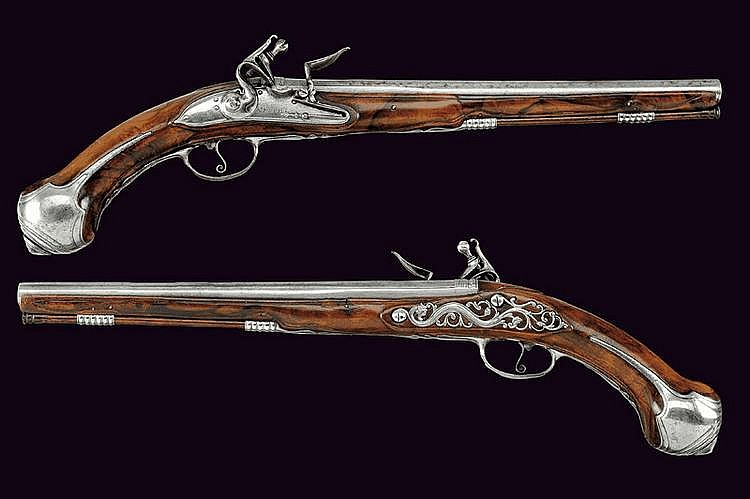A pair of flintlock pistols by Moreti